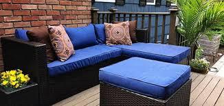 deep blue patio cushion covers