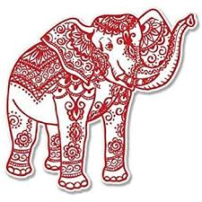Amazon Com Carframes18 Elephant Henna Red Vinyl Sticker Car Window Bumper Laptop Bumper Sticker Decal Automotive
