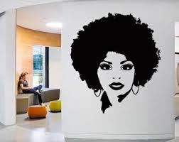 Custom Wall Window Afro Girl Woman Beautiful Decal Stickers Etsy