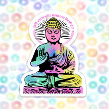Buddha Sticker Decal Vinyl Stickers For Laptops Car Decals Zen Sticker Phone Sticker Yoga Sticker Enlightenment Colorful Sticker