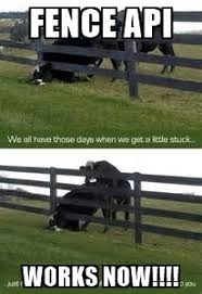 Fence Api Works Now Cow Fence Meme Generator