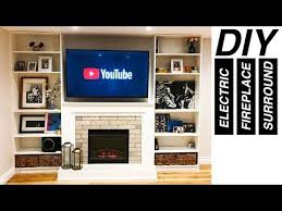 diy electric fireplace surround with