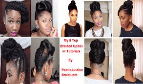 braided updo hairstyles for natural