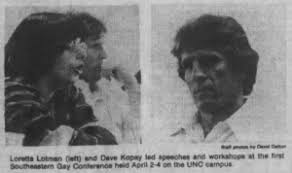 Carolina Gay Association Southeastern Conference, 1976 – For the Record