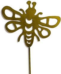 blebee decorative metal garden stake