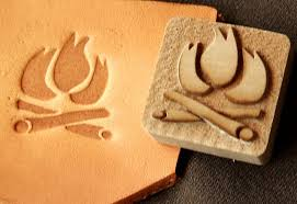 design for a leather stamp from a wood