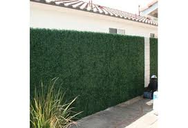 New Artificial Leaf Grass Fence Evergreen Screen Hedge Panels Emulated Plant Wall Wish