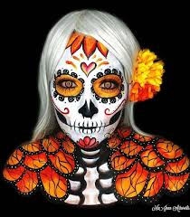 sugar skull makeup for day of the dead