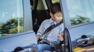 kid be riding in the front seat