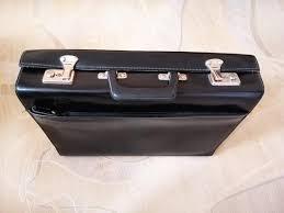 faux leather attache case mens bag