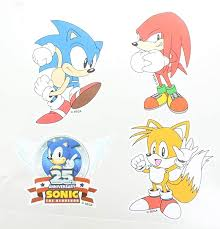 Amazon Com Sonic The Hedgehog Vinyl Stickers Set Of 4 Toys Games