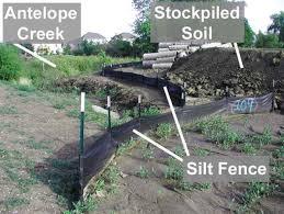 Ecm Of Urban Land Silt Fencing Erosion Control Measures Passel