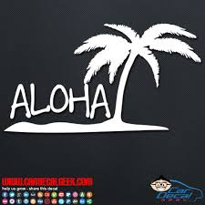 Aloha Island Car Window Vinyl Decal Sticker Hawaii Decals