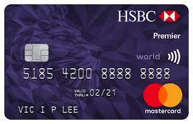 credit cards hsbc hk