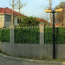 Artificial Multi Leaf Ivy Bush Hedge Screening Tile 50cm X 50cm Instant Green Direct