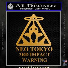 Neon Genesis Evangelion Decal Sticker 3rd Impact A1 Decals