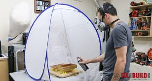 how to make a diy spray booth turntable