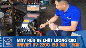 Máy rửa xe cao áp chất lượng UNIVIET UV-2200 , chạy điện 1 pha, công suất  3KW, áp lực 150 BAR - YouTube