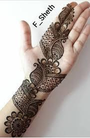 Simple Mehndi Design Arabic Design