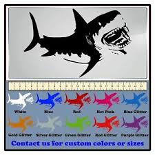 Decaldoggy Great White Shark Jaws Vinyl Decal Car Wall Ebay