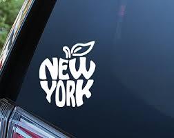 New York Car Decal Etsy