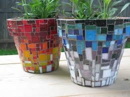 mosaic flower pots macetas de flores