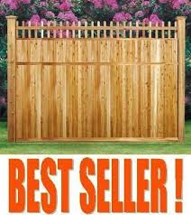 7x8 Wood Fence Panels Cedar Privacy Good Neighbor With Topper