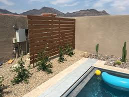 Screen Partition To Hide Our Pool Equipment Very Pleased With This Trex Decking Backyard Pool Landscaping Backyard Diy Pool Fence