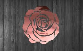 Amazon Com Rose Gold Rose Decal Car Windshield Decal Laptop Rose Decal Handmade