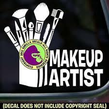 Make Up Artist Professional Vinyl Decal Sticker Brush Tools Sign Car Window Sign Ebay