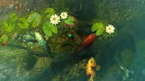 koi pond garden 3d screensaver live