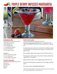 triple berry infused margarita recipe