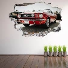 Mustang Muscle Car Wall Stickers Mural Decal Poster Print Art Etsy