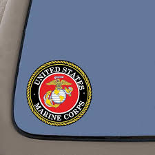 Marine Corps Decal Sticker 4 Inch Decal Sticker Usmc Decal Us Marines 2 Pack Car Truck Van Suv Laptop Macbook Wall Decals Walmart Com Walmart Com