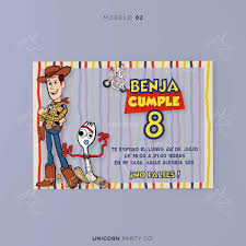 Invitacion Imprimible Toy Story 4 Cumpleanos Forky Woody 190