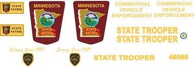 1 24 1 25 Minnesota State Police Waterslide Decals Jns Decals