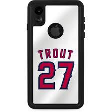 Los Angeles Angels Mike Trout 27 Iphone Xr Waterproof Case Mlb