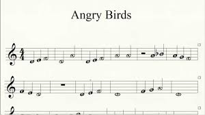 Piano Angry Birds Theme How to Play Easy Piano Letter Notes ...