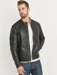 moto panel soft lamb leather jacket