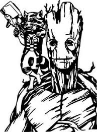 Groot Rocket Raccoon Guardian Galaxy Wall Car Laptop Window Vinyl Decal Sticker Ebay