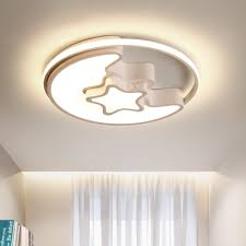Quique Designer Thin Kids Room Ceiling Light In Moon And Star Shade Takeluckhome Com