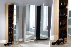 mirrored shoe cabinet tall mirrored