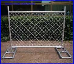 China Chain Link Fence Panel Temporary Mobile Fence With Metal Feet America Market China Temporary Construction Fence America Temporary Fence