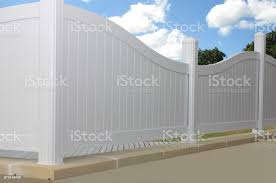 Pvc Fence With A White Background Stock Photo Download Image Now Istock