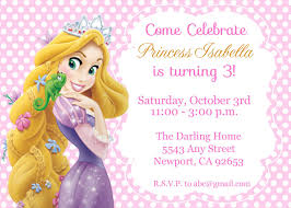 Tangled Rapunzel Invitation Disney Princess Kid S Birthday Party