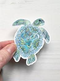 Sea Turtle Decal Sea Turtle Vinyl Sticker Laptop Decal Phone Decal Sea Turtle Sticker Animal Sticker Car Decal Water Bottle Decal In 2020 Handmade Shop Floral Gifts Small Business Items