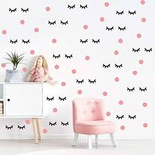 Lovely Eyelash Wall Decal With Pink Dots Buy Online In Georgia At Desertcart