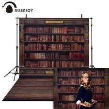 Allenjoy خلفيات للتصوير الفوتوغرافي رف كتب في مكتبة موسم التخرج