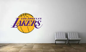 Los Angeles Lakers Logo Wall Decal Nba Basketball Decor Mural Vinyl Sticker Ebay