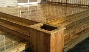 brown pressure treated wood flower box